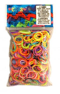 Rainbow Loom bandjes Helder kleuren mix (600 stuks)