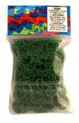 Rainbow Loom bandjes Helder donker groen (600 stuks)
