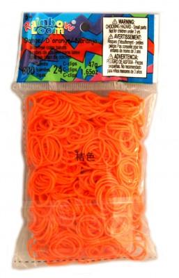 Rainbow Loom bandjes Helder oranje (600 stuks)