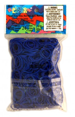 Rainbow Loom bandjes Helder marine blauw (600 stuks)