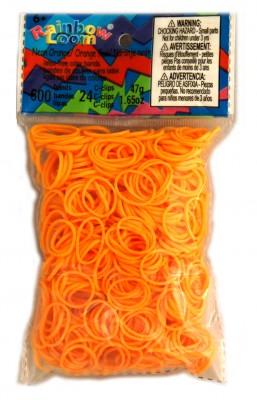 Rainbow Loom bandjes Neon oranje (600 stuks)
