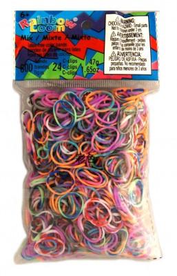 Rainbow Loom bandjes Mix Tie Dye (600 stuks)