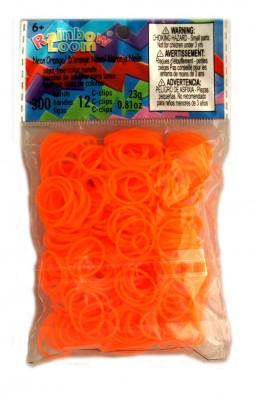 Rainbow Loom bandjes Neon oranje (300 stuks)
