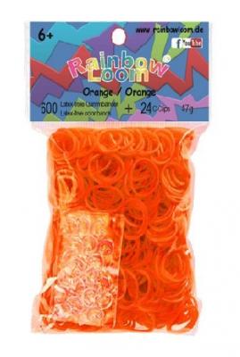 Rainbow Loom bandjes Doorzichtig oranje (600 stuks)