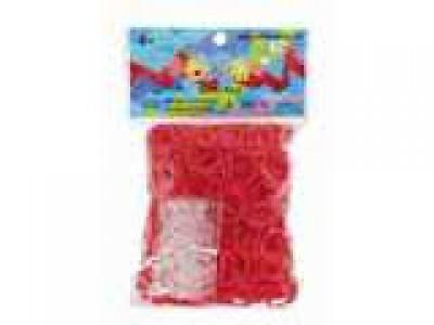 Rainbow Loom bandjes Violet Rood (600 stuks)