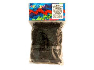 Rainbow Loom bandjes Helder zwart (600 stuks)
