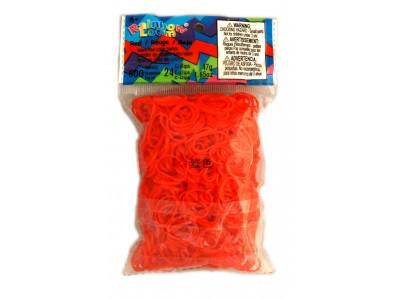 Rainbow Loom bandjes Helder rood (600 stuks)