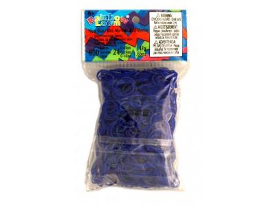 Rainbow Loom bandjes Doorzichtig marine blauw (600 stuks)