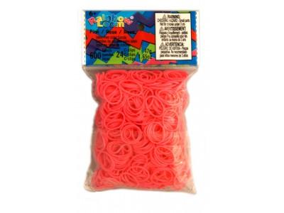 Rainbow Loom bandjes Helder roze (600 stuks)