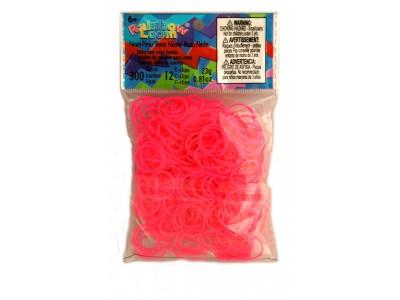 Rainbow Loom bandjes Neon roze (300 stuks)