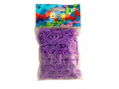 Rainbow Loom bandjes Helder lila (600 stuks)