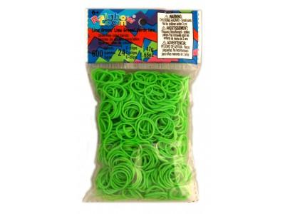 Rainbow Loom bandjes Helder lime groen (600 stuks)