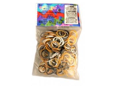 Rainbow Loom bandjes Metallic mix (300 stuks)