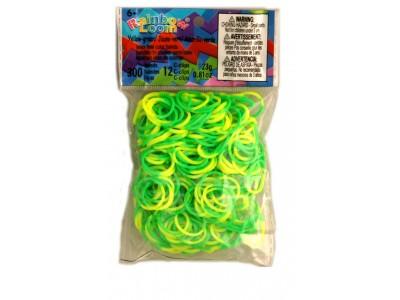 Rainbow Loom bandjes Groen/Geel (300 stuks)